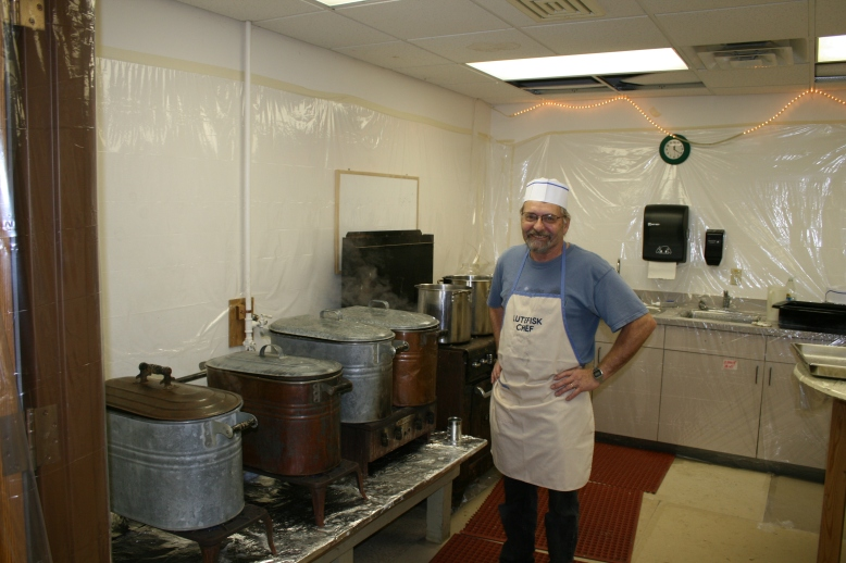 Lutefisk chef - a very smelly job