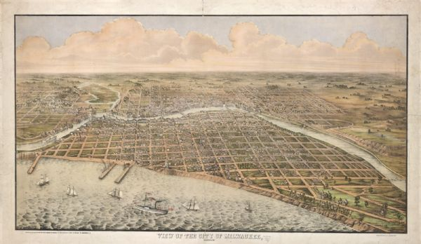1856 View of MilwaukeeSource: Wisconsin Historical Images