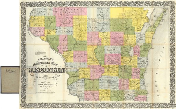 1858 map of WisconsinSource: Wisconsin Historical Images