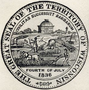 Territorial Seal Wisconsin Historical Images